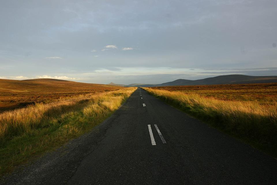Road, Landscape, Sky, Panoramic, Field Roadtrip
