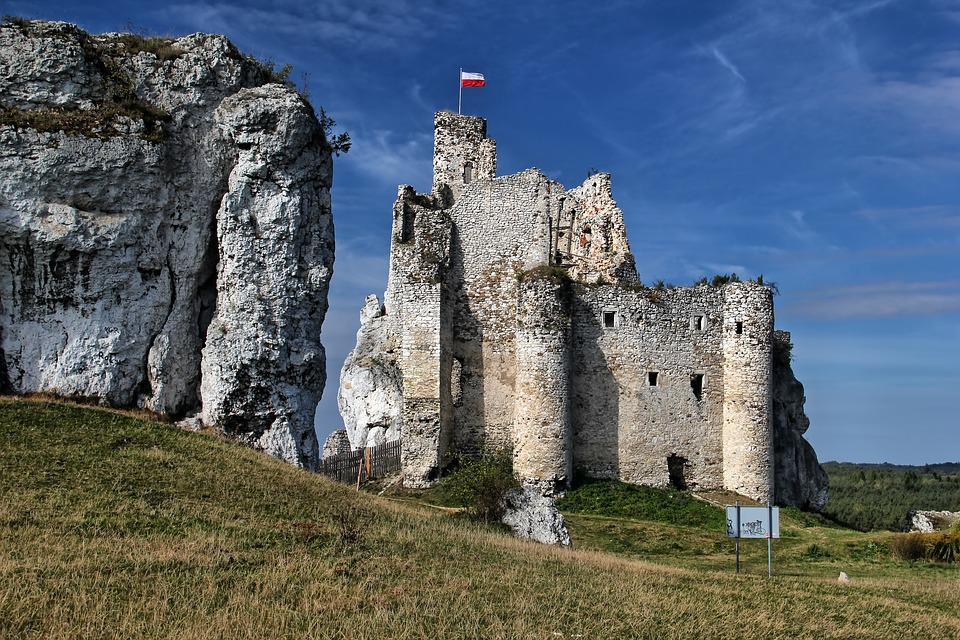 Mirow, Jura, Poland, Landscape, Castle, Rocks