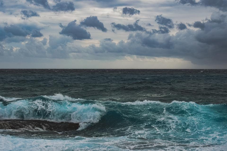 Rocky Coast, Sea, Wave, Nature, Landscape, Sky, Clouds