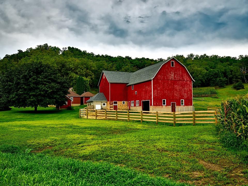 Elegant Wisconsin, Farm, Country, Rural, Landscape, Sky, Clouds