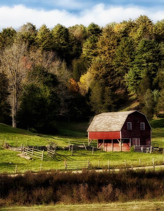 Connecticut, Landscape, Scenic, Farm, Rural, Sky