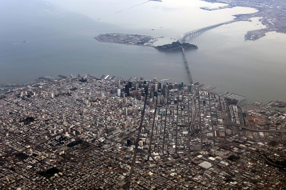 San Francisco, Aerial, Bay Area, City, Landscape - Free Photo Landscape San Francisco Bay Area City Aerial - Max Pixel