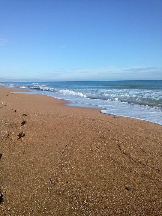 Sea, Sand, Mediterranean, Beach, Blue, Landscape, Denia
