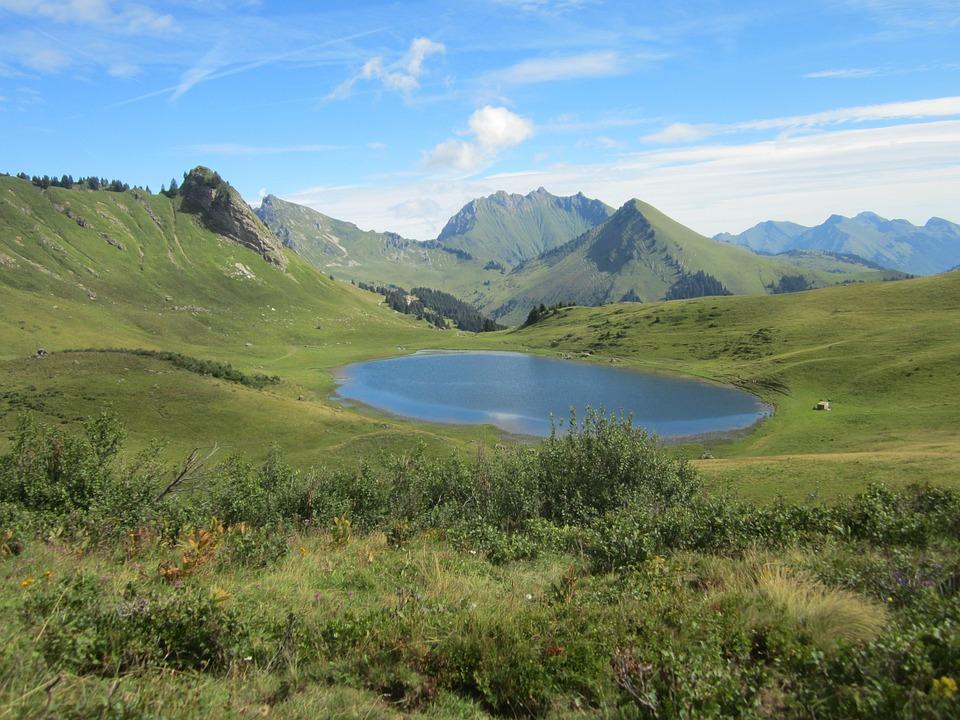 Haute-savoie, Lake, Mountain, Alps, Savoie, Landscape