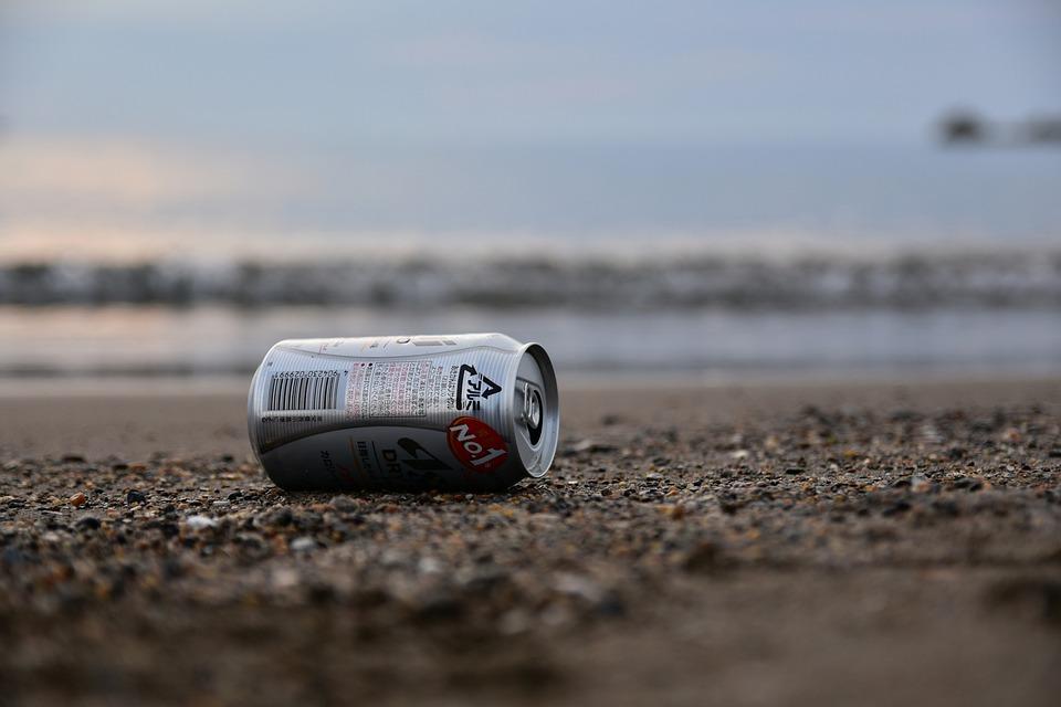 Natural, Landscape, Sea, Beach, Wave, Sand, Empty Cans