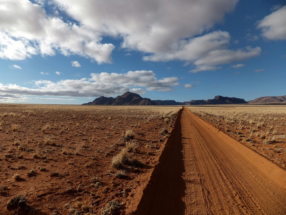 Namibia, Africa, Landscape, Nature, Clouds, Sky, Away