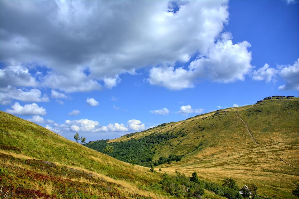 Bieszczady, Sky, Landscape, Colors, Poland, Mountains