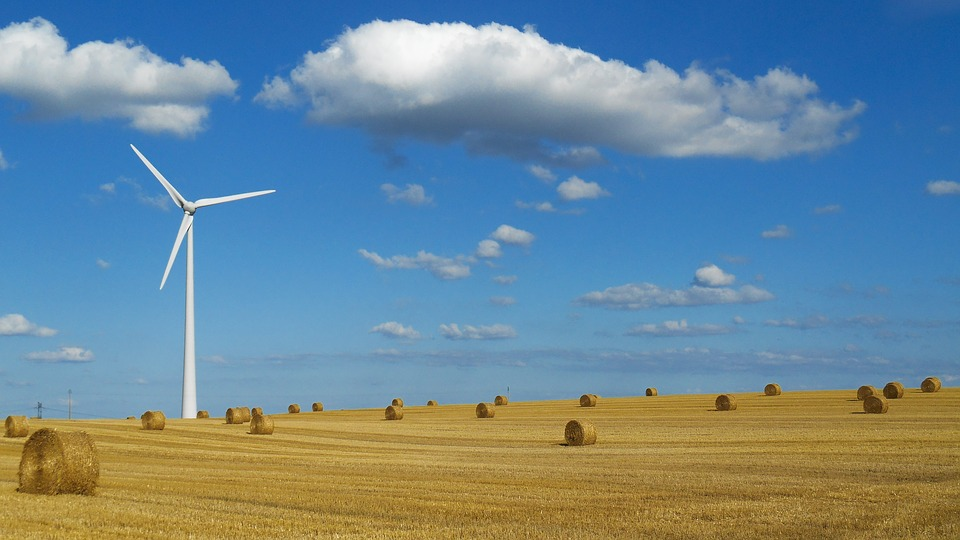 Landscape, Wind Turbine, Sky, Blue, Environment, Cloud