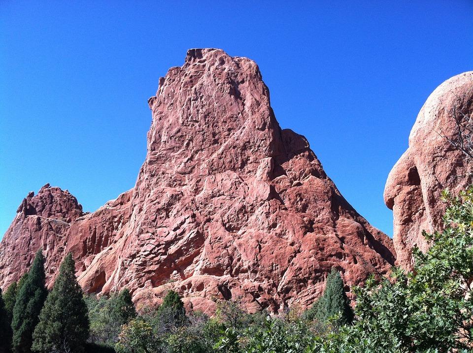 Garden Of The Gods, Mountains, Colorado, Landscape, Sky