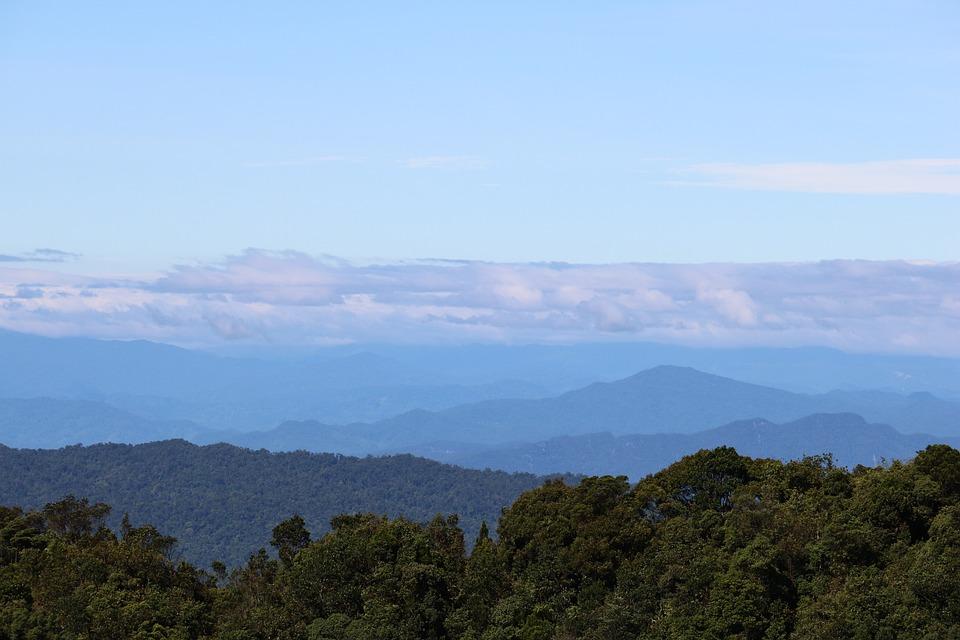 Sky, Mountains, Horizon, Forest, Landscape