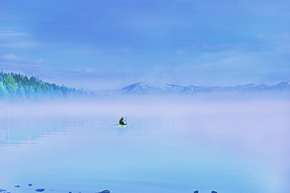 Sky, Nature, Outdoor, Landscape, Blue Sky, Fog, Water