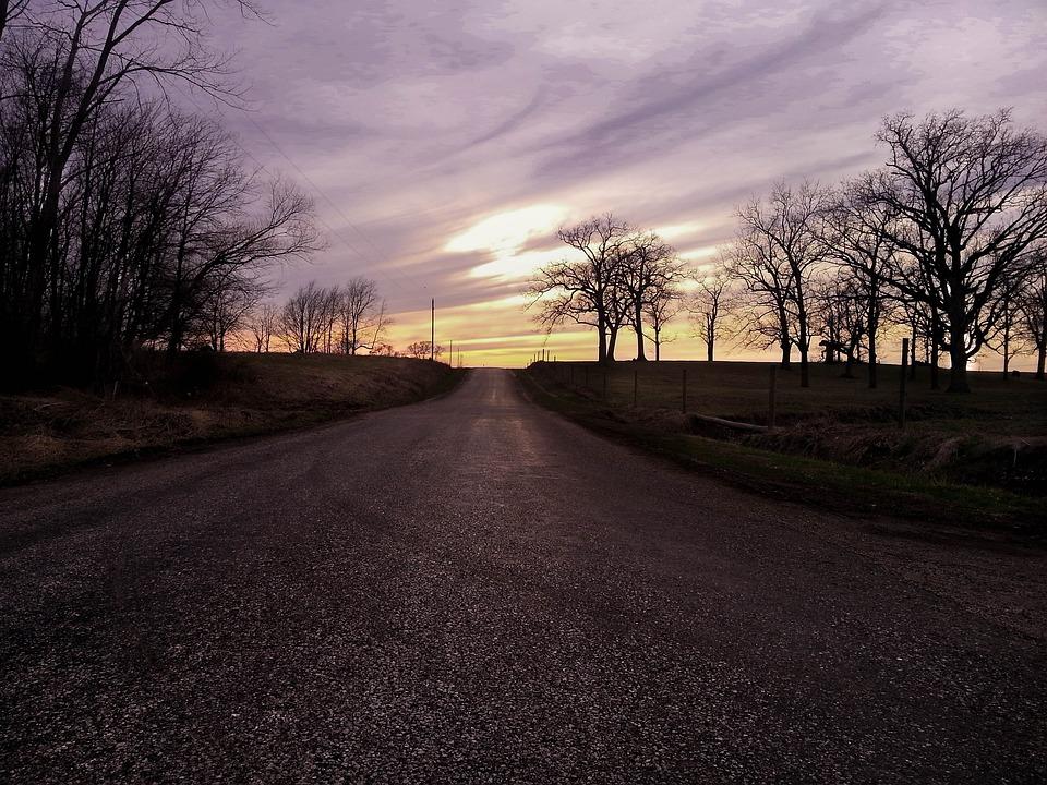 Road, Purple, Landscape, Sky, Outdoor, Asphalt, Street