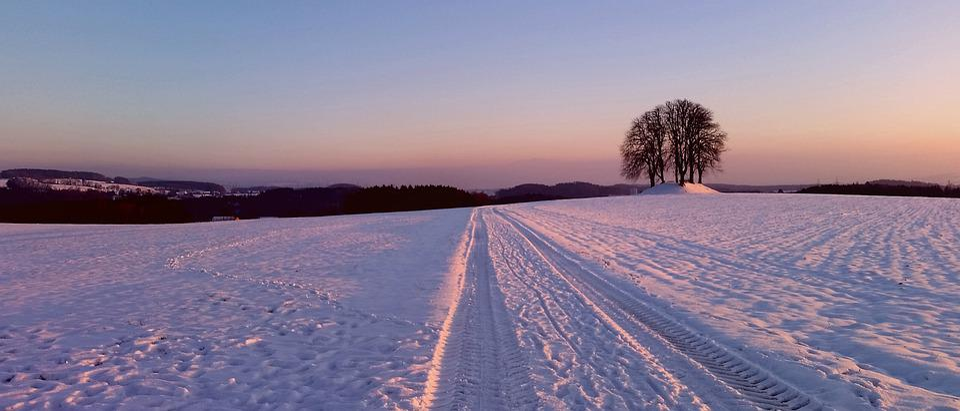 Landscape, Snow, Road