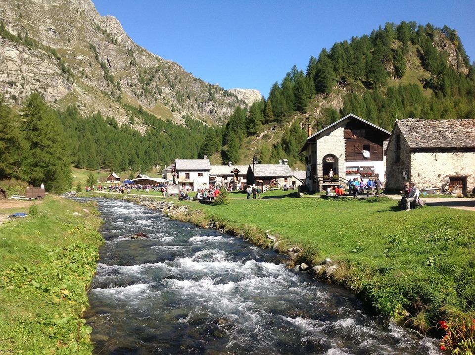 Mountain, Stream, Feast, Torrent, Landscape, Meadows