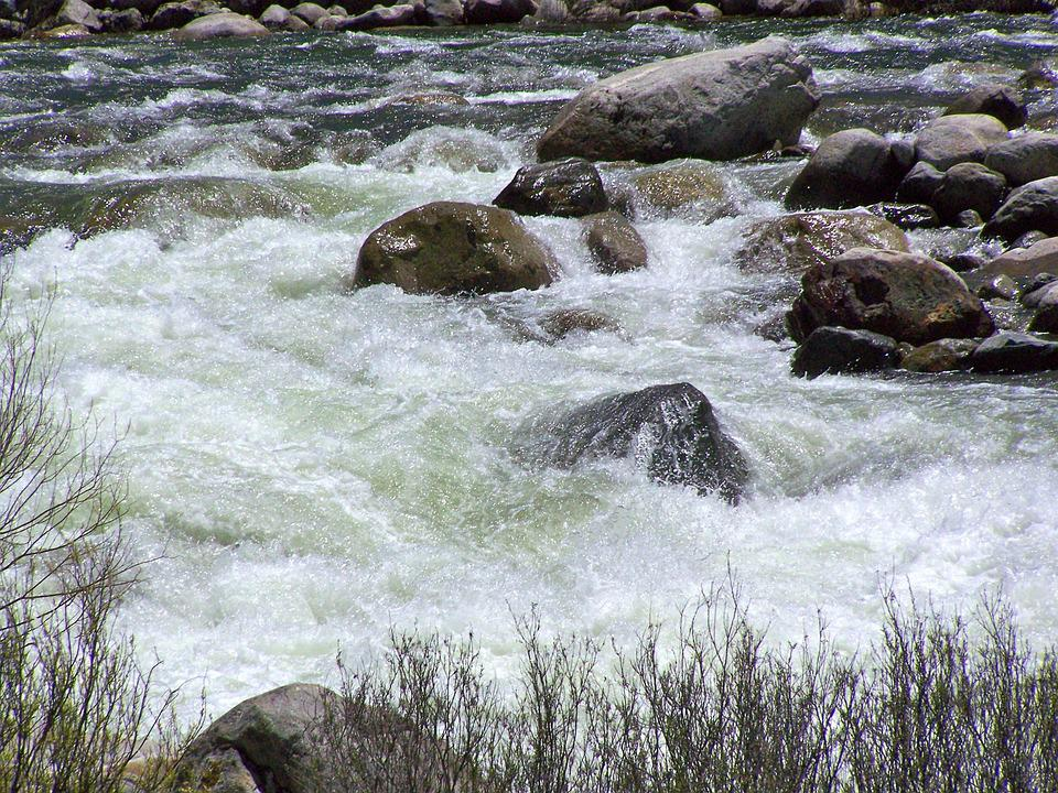 Gushing Water, River, Stream, Landscape, Natural, Creek