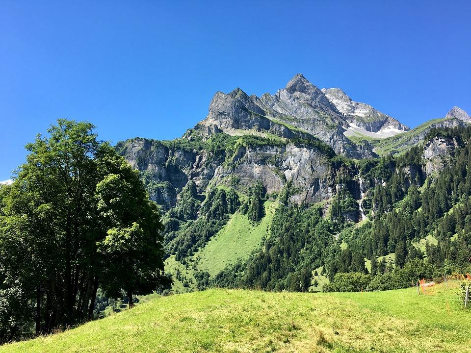 Mountain, Landscape, Glarus, Summer, Nature, Mood