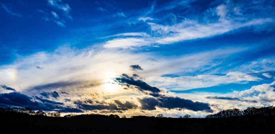 Sky, Sun, Clouds, Landscape, Mood, Atmospheric, Yellow