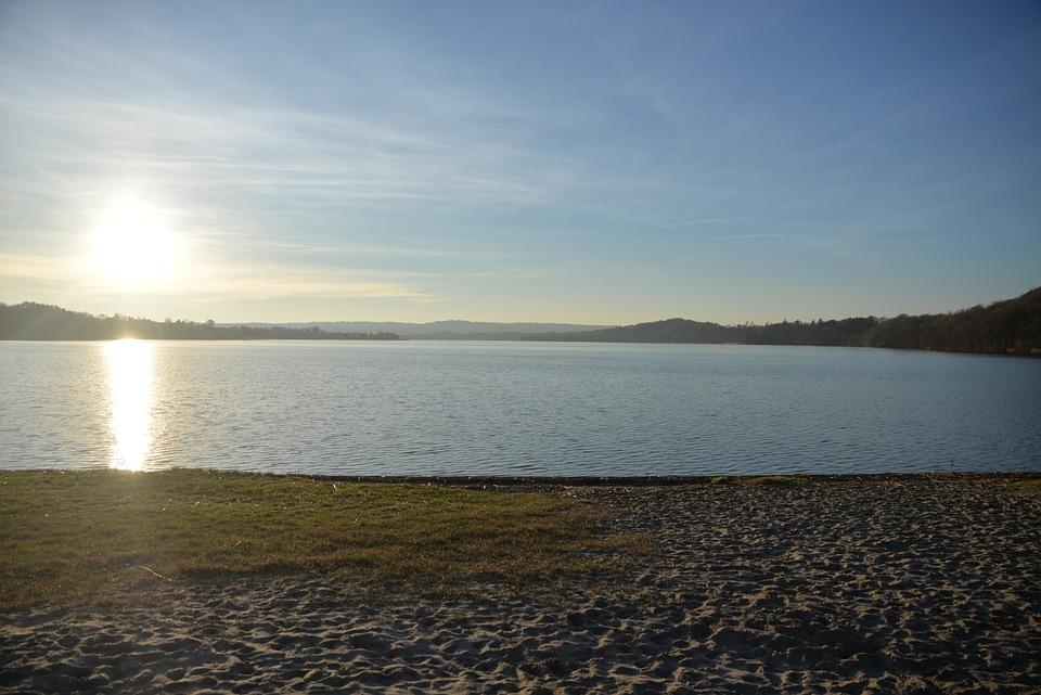 Lake, Sunset, Sky, Water, Landscape, Evening, Blue