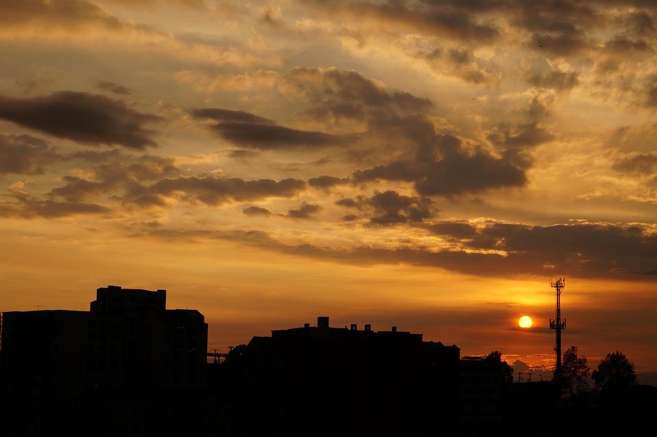 Landscape, Manizales, Sunset