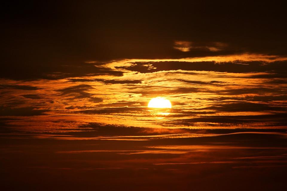Sunset, Weather, Sunrise, Landscape, Sun, Twilight