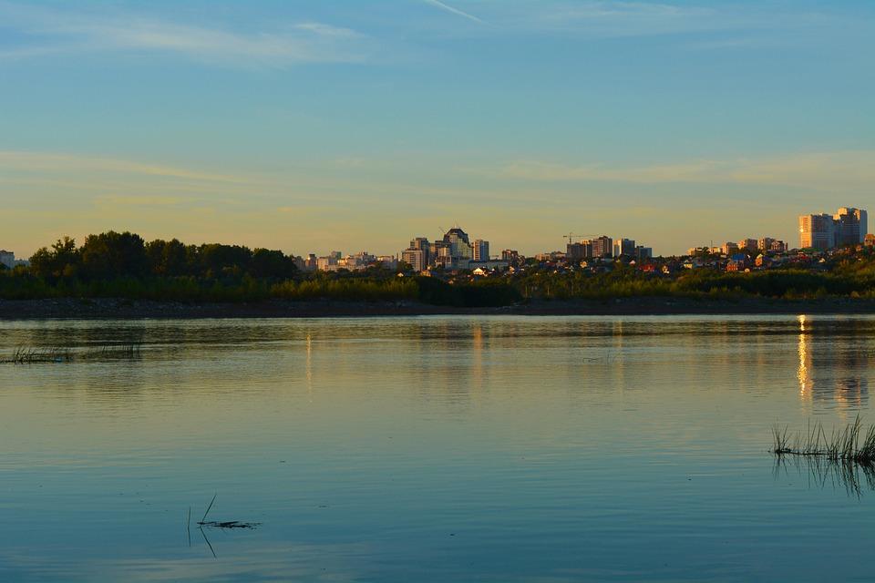 Landscape, Evening River, White River, Sunset