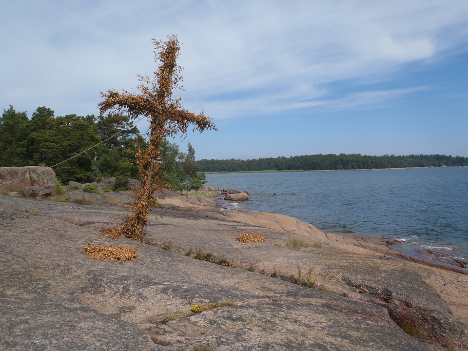 Cross, Archipelago, Sweden, Coast, Landscape, Sea
