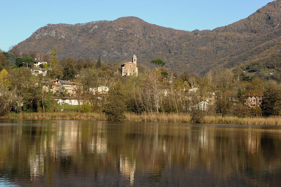 Origlio, Lake, Vista, Landscape, Switzerland, Ticino