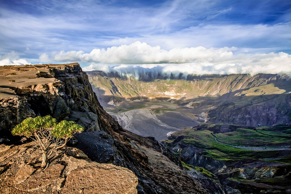 Landscape, Mountain, Volcano, Tambora Mountain