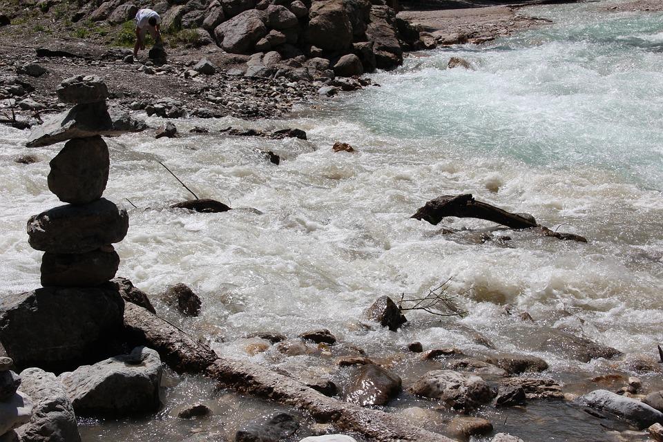 Water, Tearing, Landscape