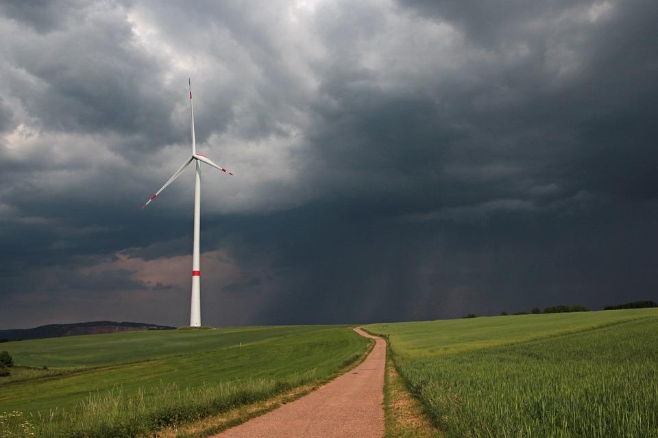Weather, Thunderstorm, Woken, Lane, Fields, Landscape