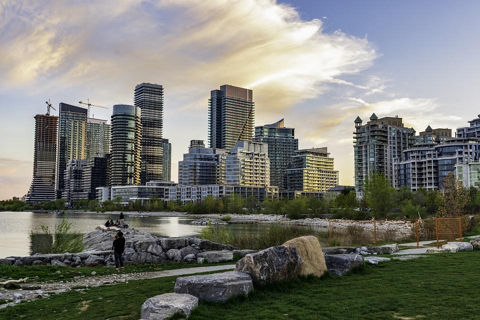Toronto, Landscape, Sky, Lake, Building, Skies