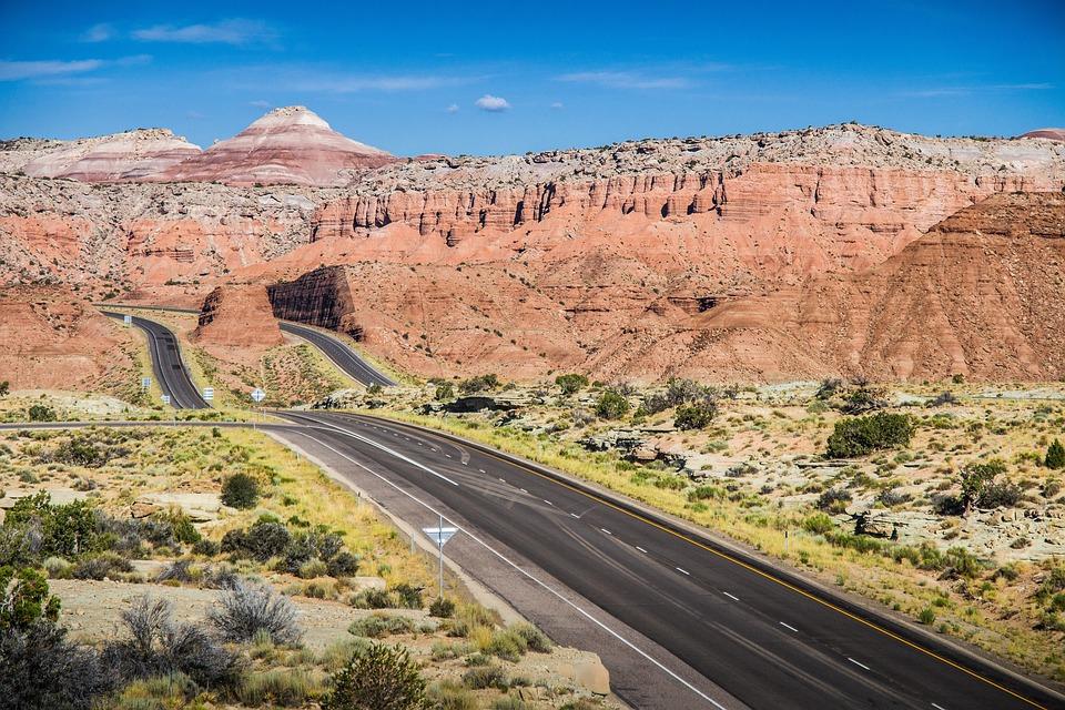 Desert, Highway, Roadtrip, Landscape, Transport, Nature