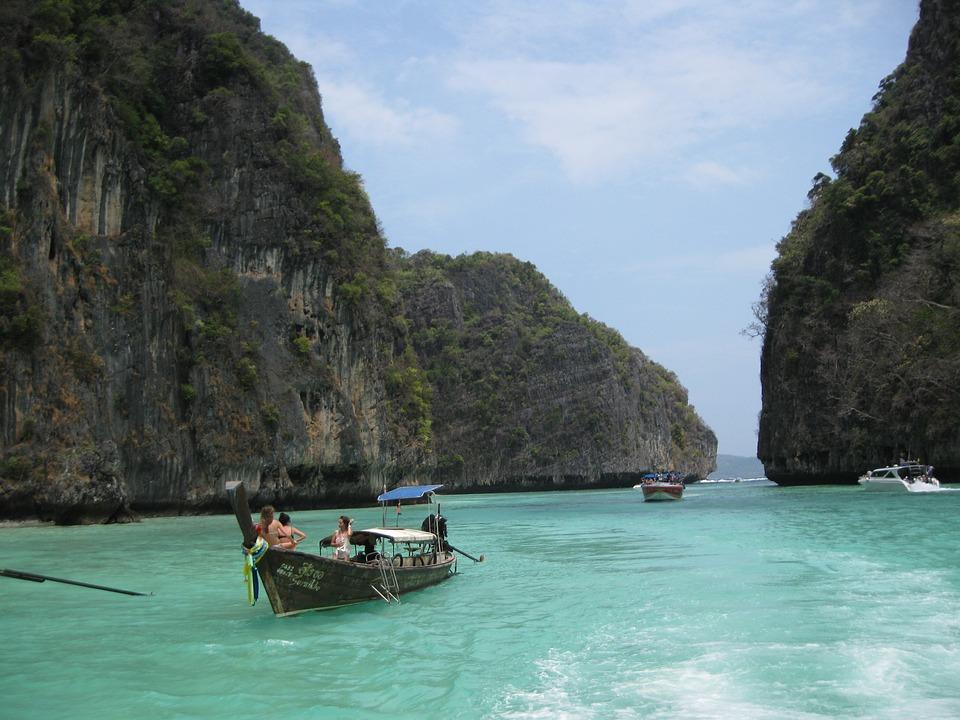 Phi Phi Islands, Sea, Rocks, Landscape, Travel