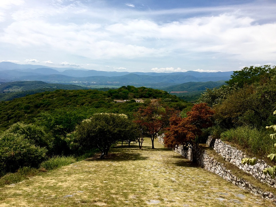 Xochicalco, Mountains, Landscape, Travel, Sunlight, Sky