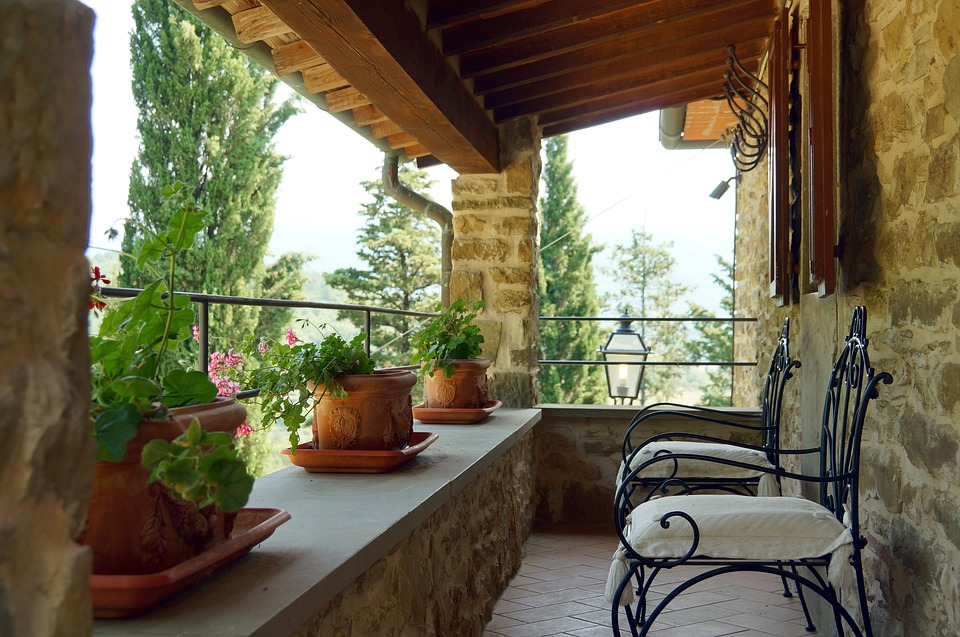 Terrace, Landscape, Cottages-vacation Rentals, Tuscany