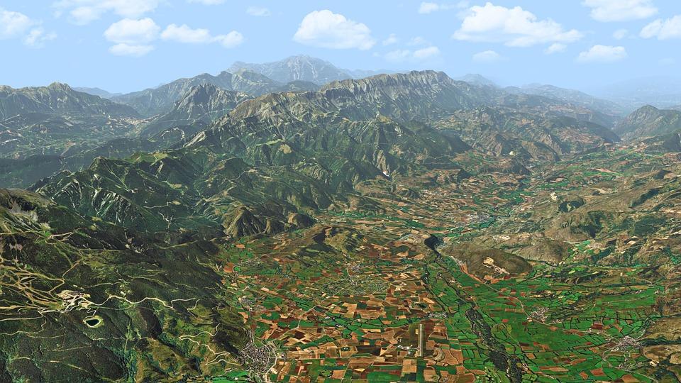 Mountains, Valley, Range, Nature, Landscape, Mountain