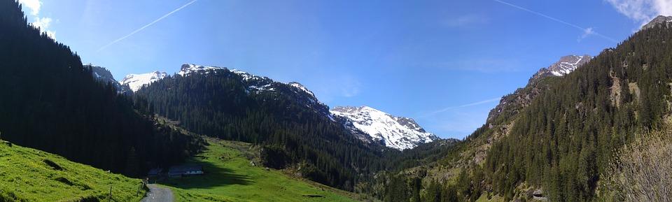 Mountain, Landscape, Valley, Murg