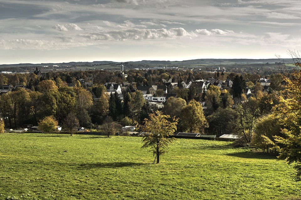 Chemnitz, Landscape, View, Sky, Distant View, Panorama
