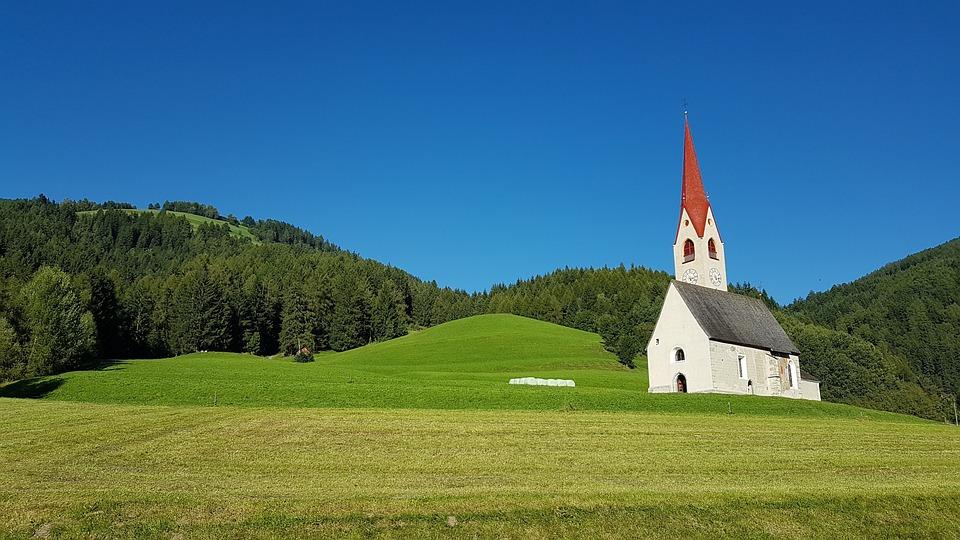 Church, Landscape, Tyrol, Green, Nature, View, Sky