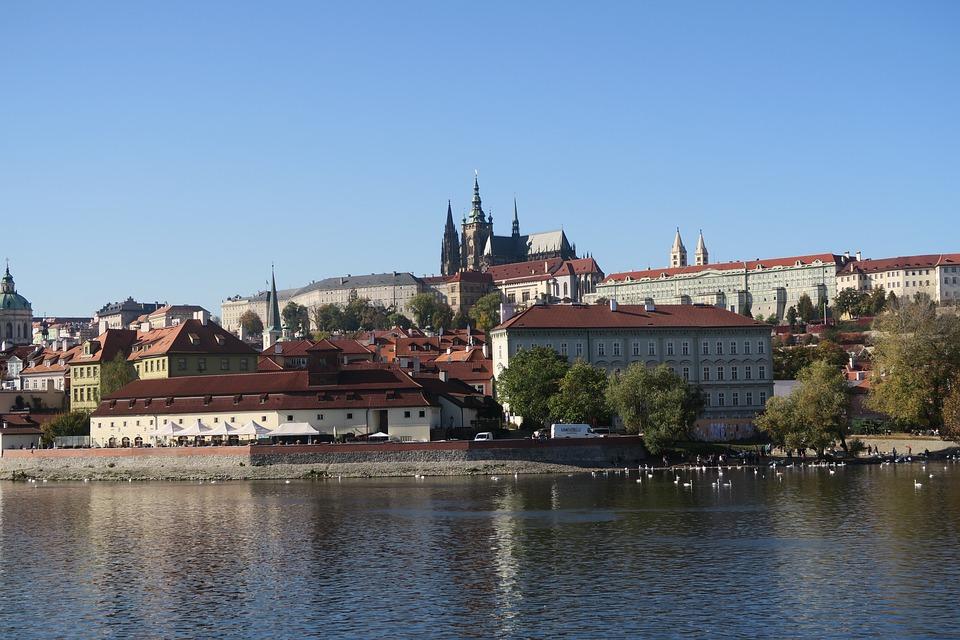 Prague, Autumn, Vltava, City, Czech Republic, Landscape