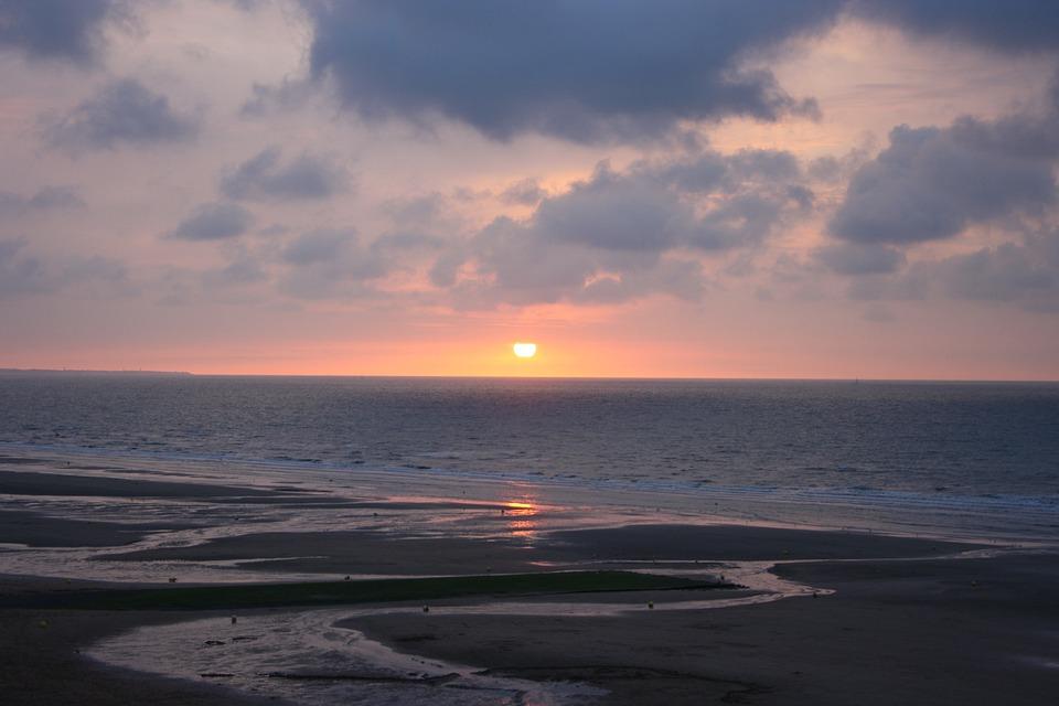 Landscape Was, Normandy Beach, Sunset
