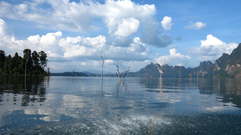 Lake, Landscape, Blue, Nature, Water, Sky