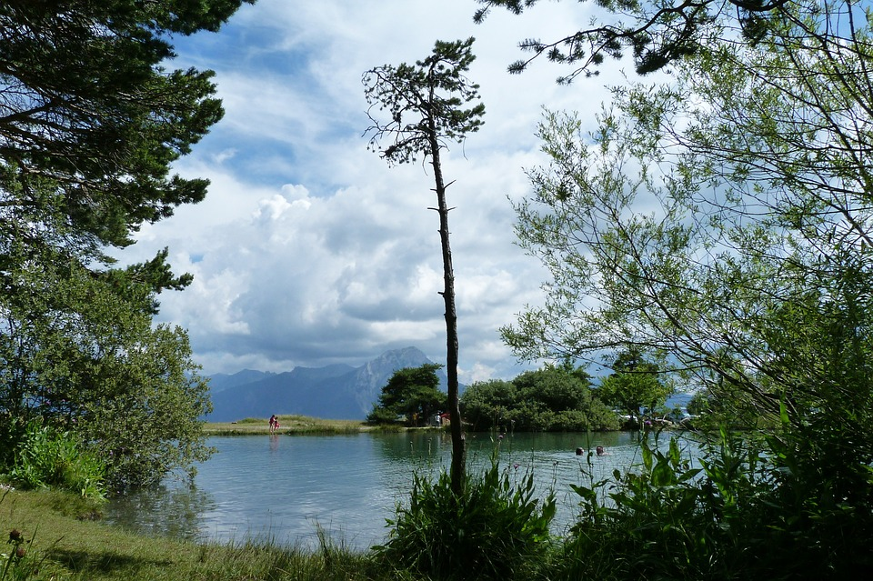 Landscape, Nature, Water, Lake, Trees, Sky, Clouds