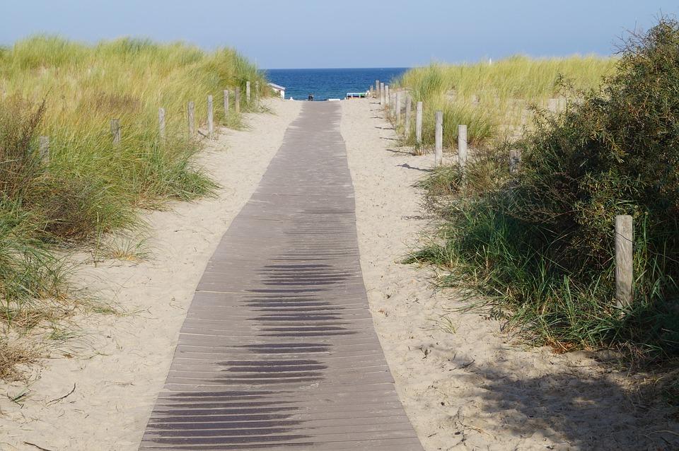 Beach, Away, Dunes, Water, Sand, Sea, Coast, Landscape