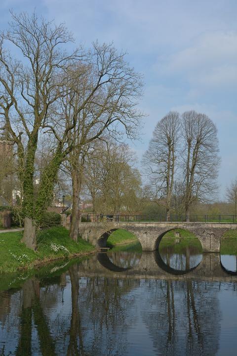 Landscape, Castle, Water, Europe, Mystical