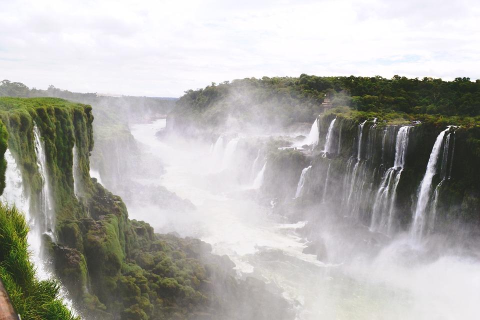 Falls, Iguazu, Landscape, Water, Brazil, Fall