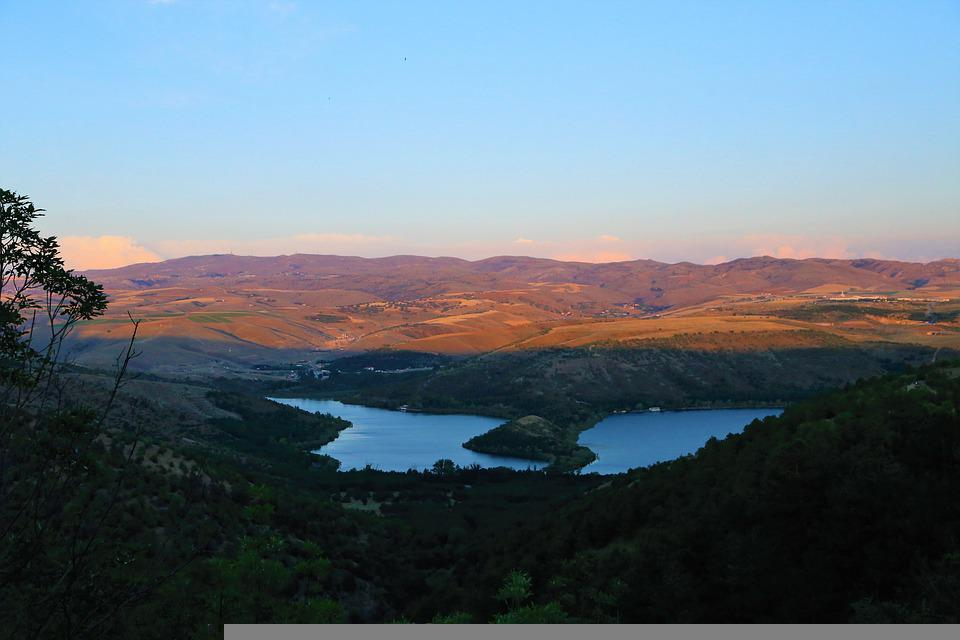 Landscape, Lake, Nature, Water, Forest, Trees, Turkey