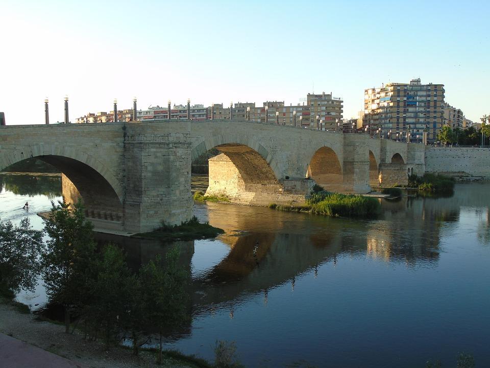 Bridge, River, Water, Landscape, Arc, Sunset, Rome
