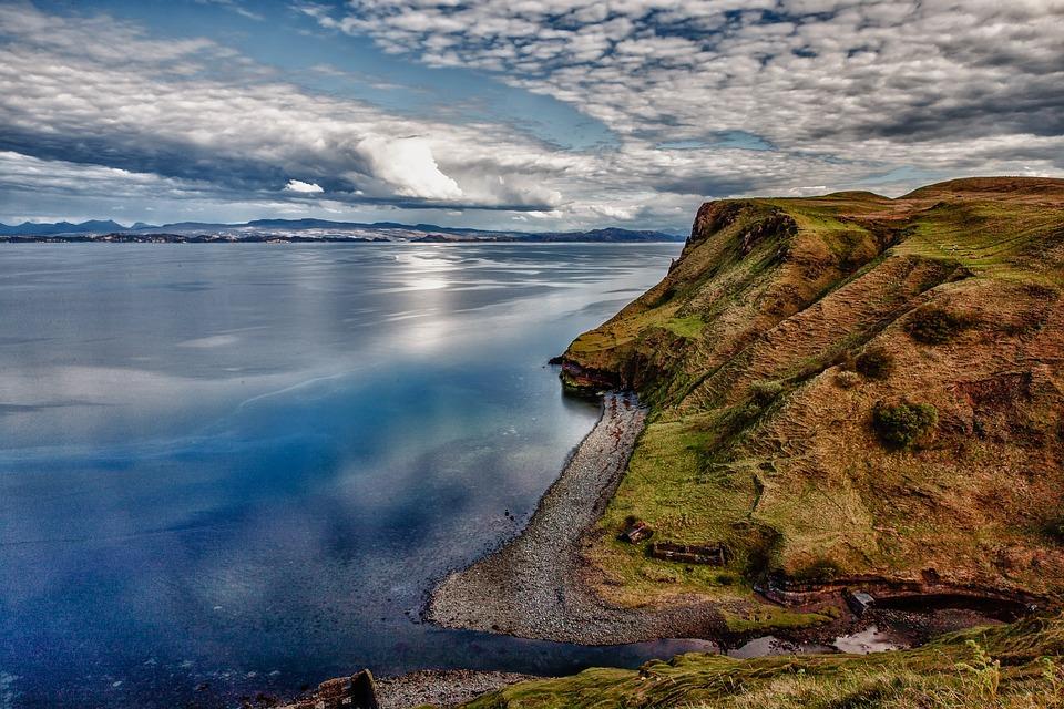 Landscape, Coast, Waters, Beach, Clouds, Water, Lake