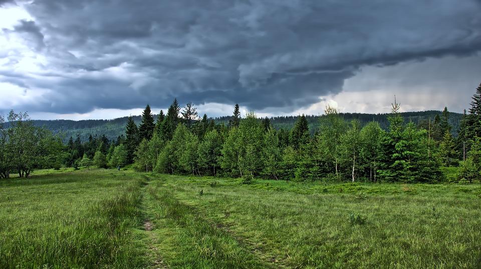 Storm, Mountains, Clouds, Landscape, Sky, Weather